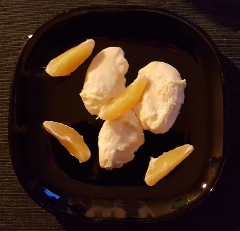 Weisse Schoko Orangen Mousse